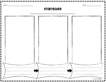 Double-Sided Storyboard Graphic Organizer