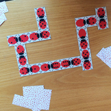 Double-Six Ladybird Domino Card Set - Game, Puzzle, Toy, P