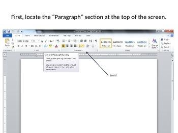 Double Spacing in MS Word 2010