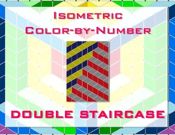 Double Staircase Isometric Color-by-Number