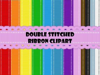 Double Stitched Ribbon Clip art