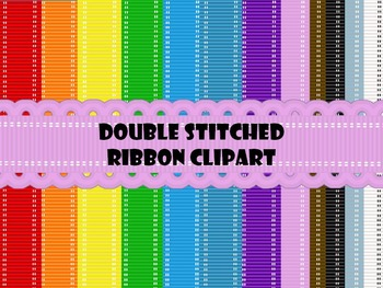 Double Stitched Ribbon Clip art