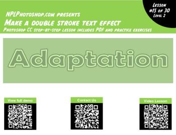 Double Stroke Effect with Photoshop CC - free no prep graphic design lesson