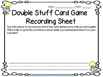 Double Stuff Comparing Numbers Math Game