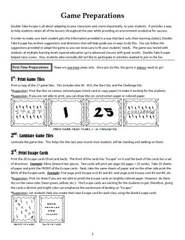 Double-Take Escape: All Year Reinforcement Tool, Test Preparations, Review Game