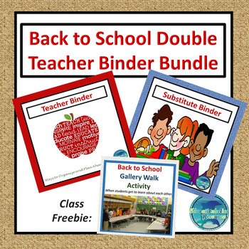 Double Teacher and Substitute Binder Sets