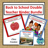 Double Teacher and Substitute Binder Bundle