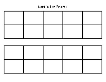 Double Ten Frame Addition and Subtractuon Practice