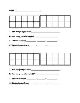 Double Ten Frame Assessment