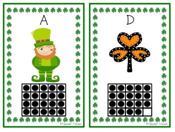 Double Ten Frame Count the Room St. Patrick's Day Theme