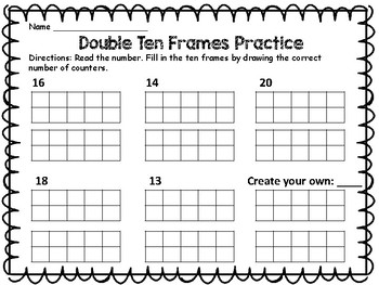 Double Ten Frame Practice