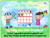 Double Ten Frame Spring Subtraction FREEBIE!