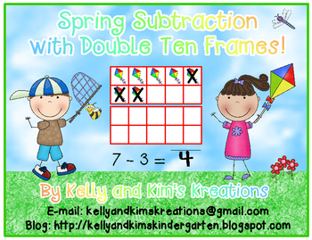 Double Ten Frame Spring Subtraction FREEBIE!