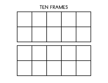 picture relating to Ten Frames Printable named Double 10 Body Template