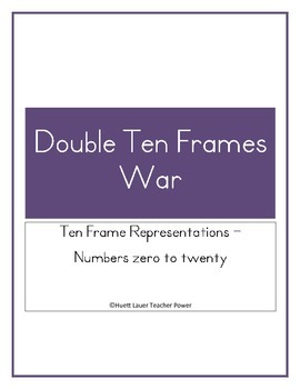 Double Ten Frame WAR Game