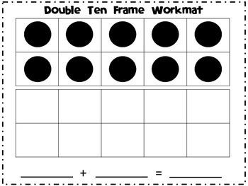 Double Ten Frame Workmat