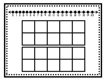 Double Ten Frame with Numberline