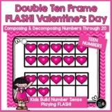 Double Ten Frames Teen Numbers for Valentine's Day