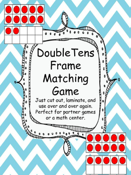 Double Tens Frame Matching Game