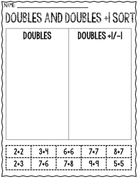 Double Trees-Freebie Christmas related Doubles/Near Doubles