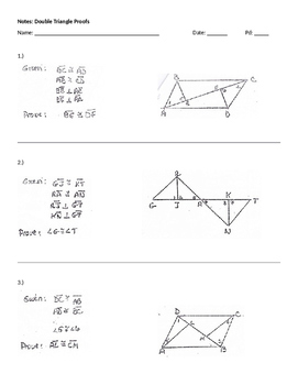 Double Triangle Proofs
