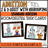 Double & Triple Digit Addition Boom Cards Bundle Fall Theme