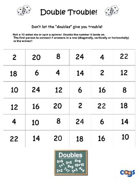 Double Trouble Adding Game