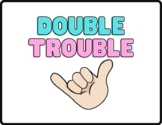 Double Trouble -- Doubles Addition Facts Posters with Fingers for Primary