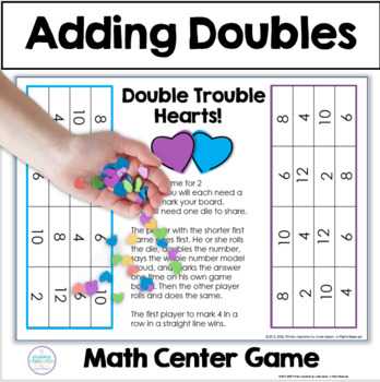 Adding Doubles Valentines Day