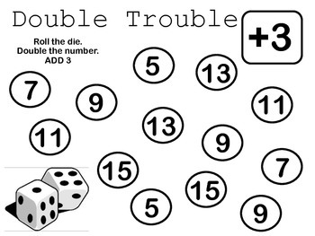 Double Trouble Plus More {extending doubles math tub or math center}