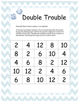 Double Trouble- Quick Facts Game