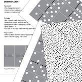 Double-Twelve Domino Card Set - Game, Puzzle, Toy, Printable PDF,
