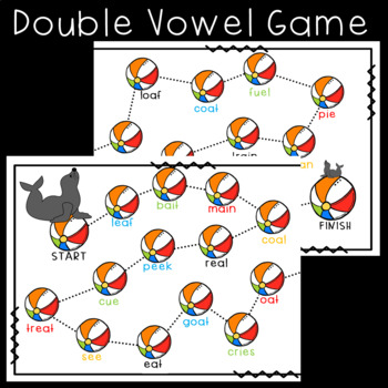 Double Vowel Game, Sorts, and Worksheets