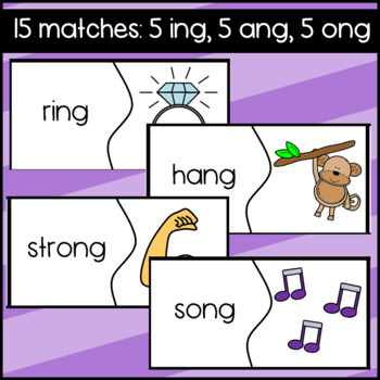 Double Vowel Puzzles: Match the picture to the word: ee, ea, ie, ai, oa
