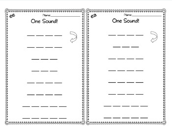 Double Vowel Resources for EE and EA words: Teacher led and Independent