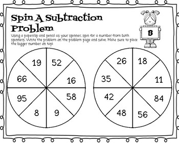 Double addition/subtraction Spin and Solve Pages