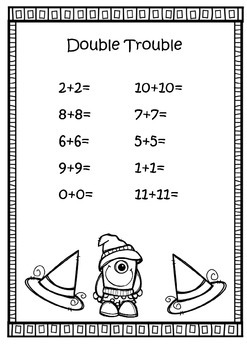 Double and Halves - Numbers Worksheets