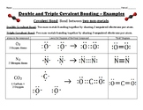 Double and Triple Covalent Bonding Using Lewis Dot Structures
