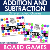 Addition and Subtraction Board Games - Double and Triple Digit Numbers