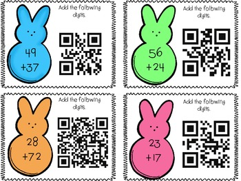 Double and Triple Digit Addition QR Fun