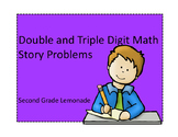 Double and Triple Digit Addition Story Problems (without r