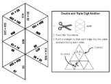 Double and Triple Digit Addition Without Regrouping Game: Math Tarsia Puzzle