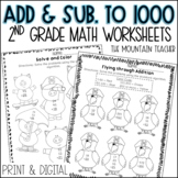 2 and 3 Digit Addition and Subtraction Worksheets | Print and Google Slides
