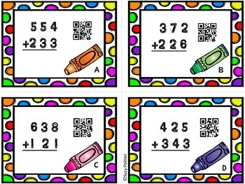 Double and Triple Digit Addition (no regrouping) Activities Bundle