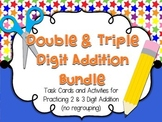 Double and Triple Digit Addition (no regrouping) Activitie