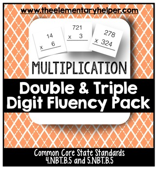Double and Triple Digit Multiplication Fluency Pack