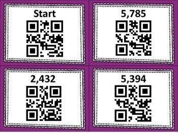 Double and Triple Digit Multiplication QR Code Scavenger Hunt