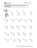 Double and Triple Multiplication Problem Bundle   100 prob