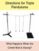 Double and Triple Pendulums