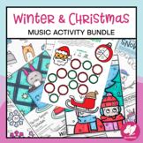 Winter & Christmas Music Worksheets & Activities Bundle